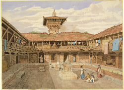 Interior courtyard of monastery, Patan (Nepal)